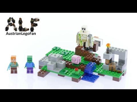 Lego Minecraft 21123 The Iron Golem - Lego Speed Build Review