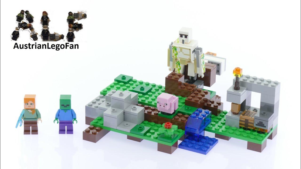 Lego Minecraft 21123 The Iron Golem Lego Speed Build