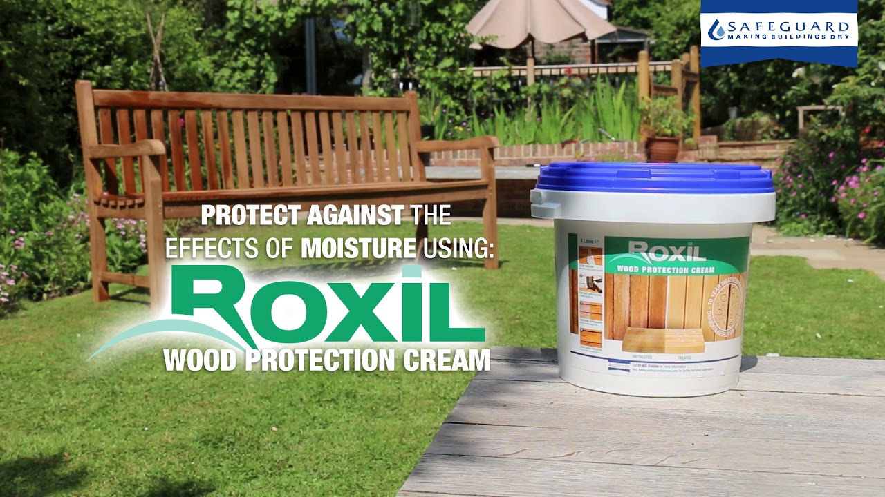 protect garden furniture with roxil wood protection cream