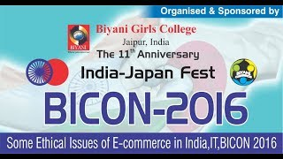 Some Ethical Issues of E-commerce in India,IT,BICON 2016