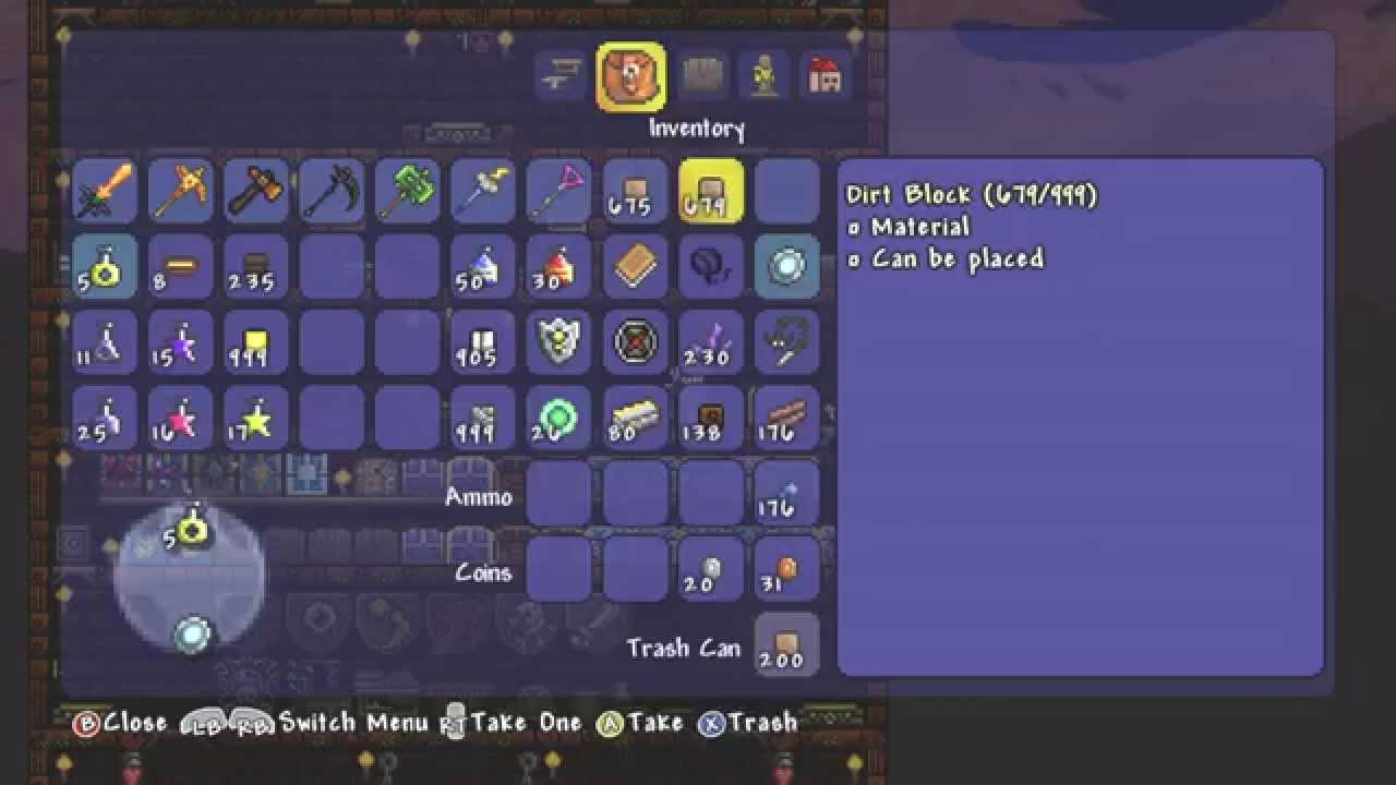 PATCHED Console ID List Terraria 12 Xbox 360 Update How To Get ANY Item From SafesPiggy