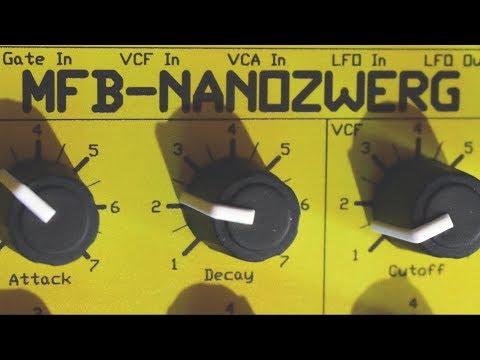 MFB-NANOZWERG - Analog Synthesizer (2010) Part 1