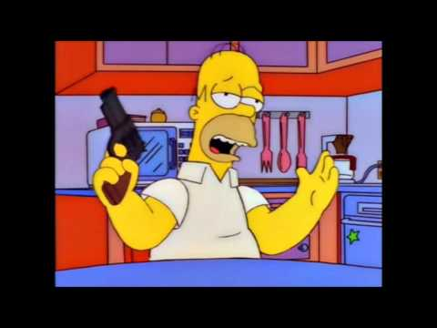 The Simpsons  Homer and his gun