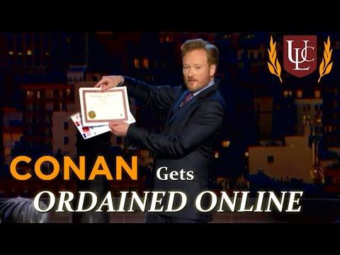 Conan O'Brien Gets Ordained