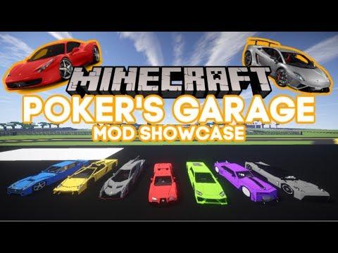 Minecraft: CARS IN MINECRAFT?!?!? | Poker's Garage Mod | 1.7.10