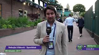 Nebojša Višković Posle Prvog Dana Wimbledona | SPORT KLUB Tenis