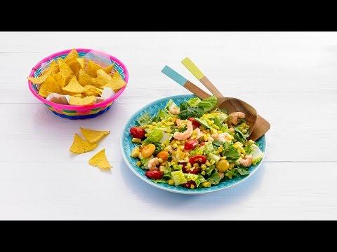 Salade van geroosterde mais & garnalen – Allerhande