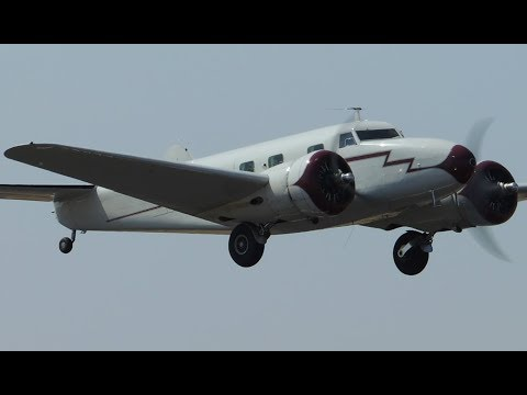 Lockheed Model 12 Electra Jr [N14999] taxi and takeoff from S33 - Madras Municipal Airport