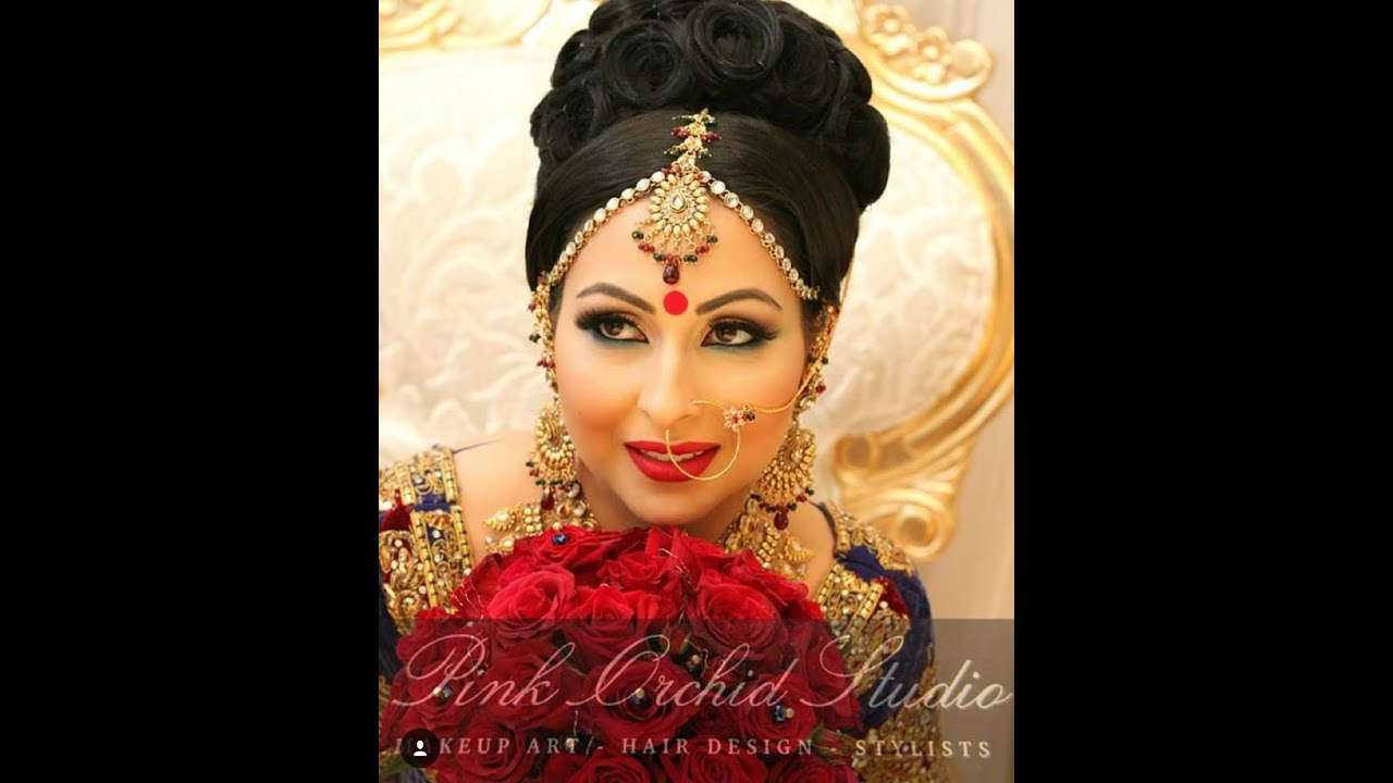 indian bridal hairstyle /pakistani bridal hairstyle - youtube