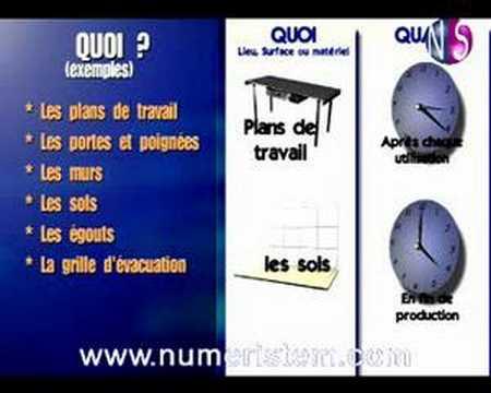 vidéo formation haccp-nettoyage sols et surfaces (extrait) - youtube - Formation Cuisine Collective 2
