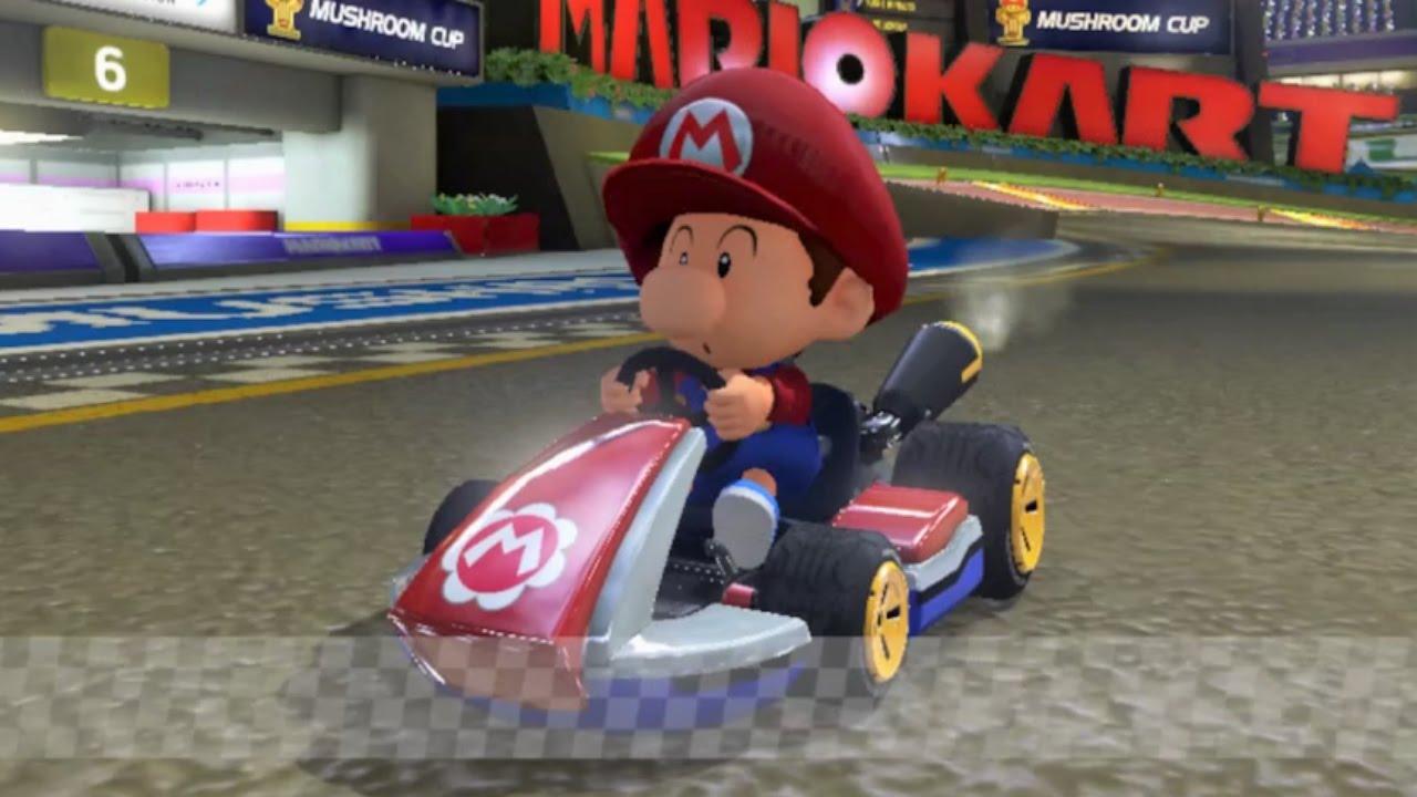 Baby Mario Mario Kart 8: Mario Kart 8 Baby Mario Gameplay HD