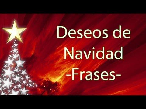 Deseos de navidad frases youtube - Deseos para la navidad ...