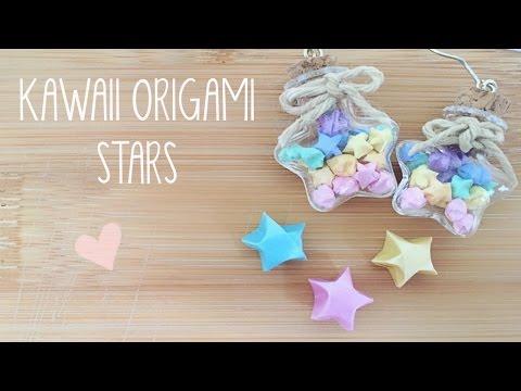 DIY Mini Lucky Origami Star Earrings