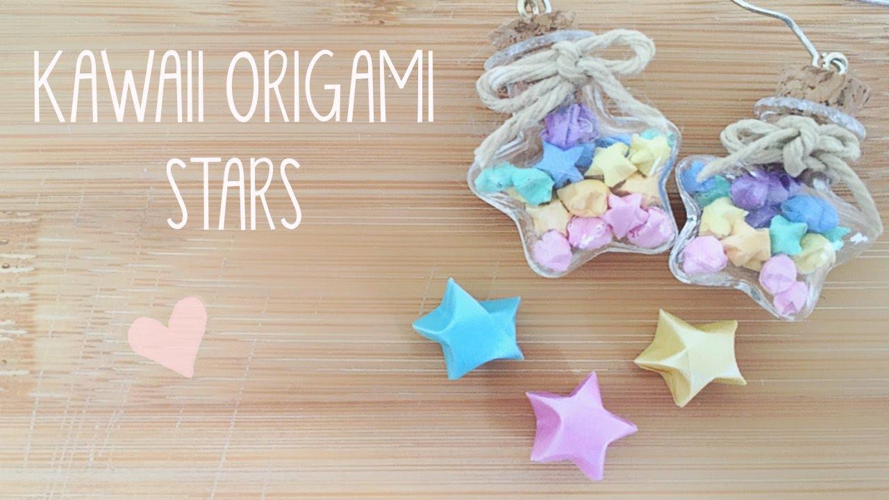 Diy mini lucky origami star earrings youtube for Diy lucky stars