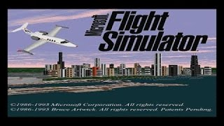 Microsoft Flight Simulator 5.0 gameplay (PC Game, 1993)