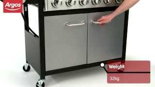 6 Burner Black and Stainless Steel Gas BBQ Argos Review