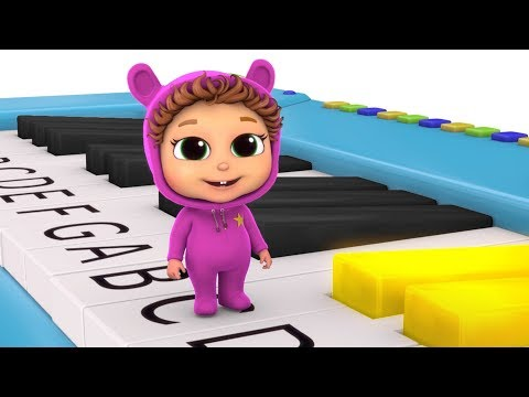 Learn to Play Piano  ABCDEFG Song  Learn Music