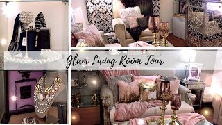Glam Living Room Tour: How to's|Diys| Design Inspiration| Renter Friendly