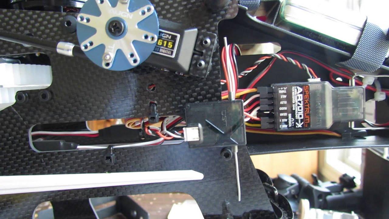 Align Trex 700e Wiring Layout