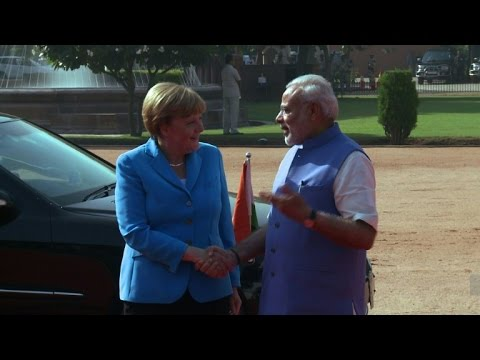 Thumbnail: Angela Merkel visits India with trade topping the agenda