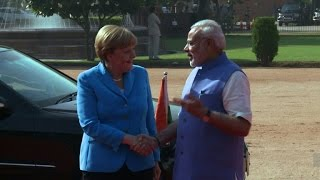 Angela Merkel visits India with trade topping the agenda