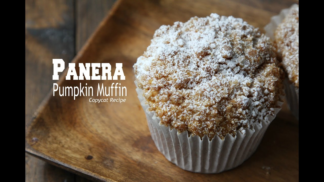 Panera Pumpkin Muffin Recipe - YouTube