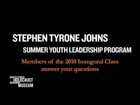 Answers to Questions for the Stephen Tyrone Johns Summer Youth