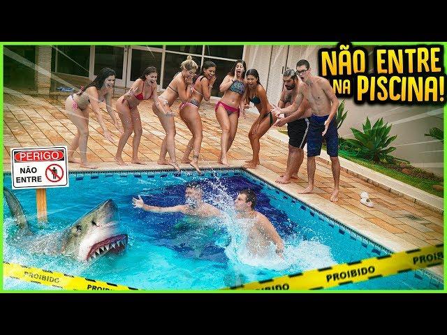TODOS PROIBIDOS DE ENTRAR NA PISCINA DA CASA!! ( 1000 R$ ) [ REZENDE EVIL ]