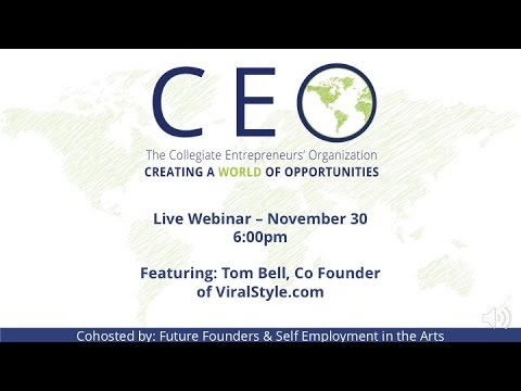 Live Webinar Series - ViralStyle.com - Tom Bell, Co Founder