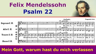 Mendelssohn - Mein Gott, warum (Psalm 22)