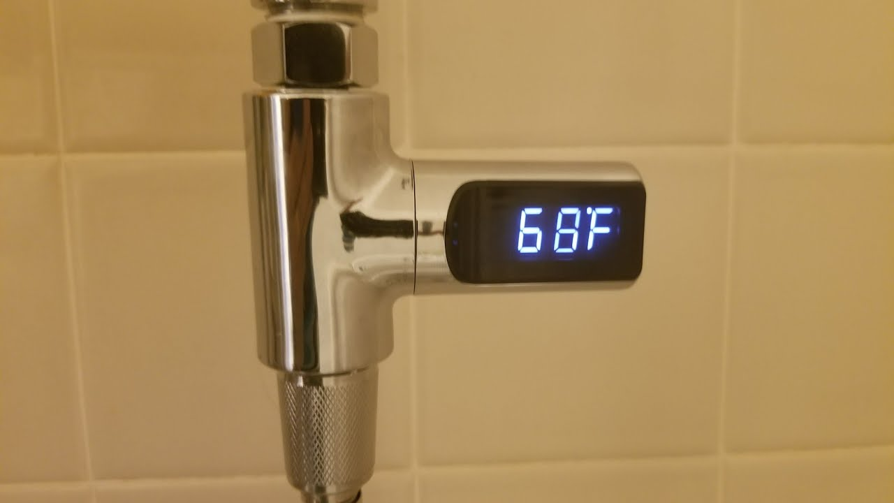Shower digital thermometer - YouTube