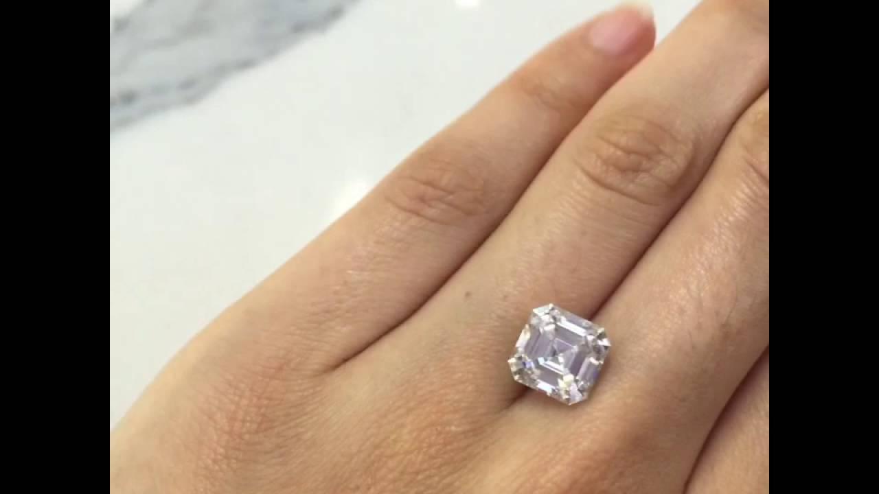 4 50 carats Asscher cut SUPERNOVA Moissanite
