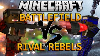 Minecraft Battlefield Gun Mod vs Rival Rebels Mod (Mod Battles) Modded PVP