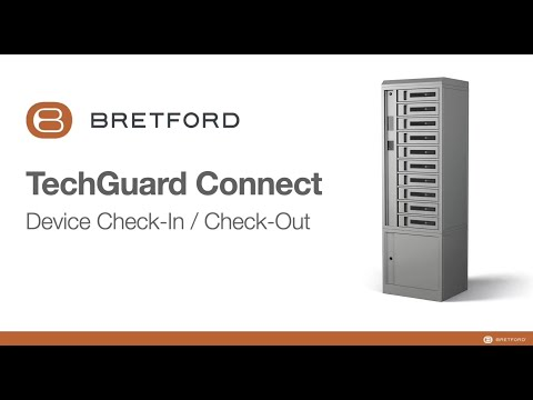 "Bretford Connect® - cloud-based software demonstrates: ""Check-in/Check-out"" mode."