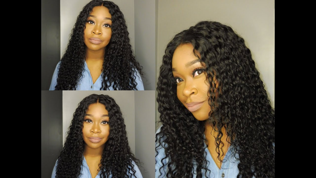 My Lace Frontal Install Review Peruvian Deep Wave Hair