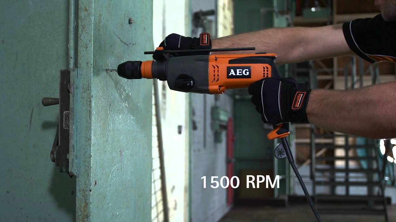 sds-plus-hammer drill combo - kh 24 xe - aeg powertools - youtube