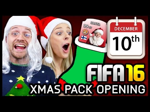 XMAS ADVENT CALENDAR PACK OPENING #10 - FIFA 16 ULTIMATE TEAM