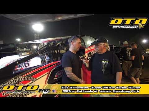 Mat Williamson Wins DIRTcar Nationals Night #1 at Volusia 2/11/20