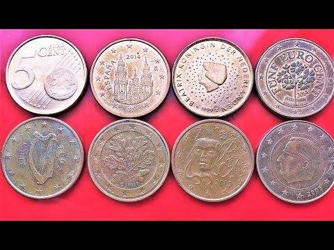 5 Euro Cent France Germany Ireland Italy Spain 2016 2015 2014 2010 2008 2005 2004 2003 2002