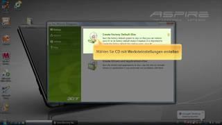 Acer eRecovery - Erstellen einer Recovery CD