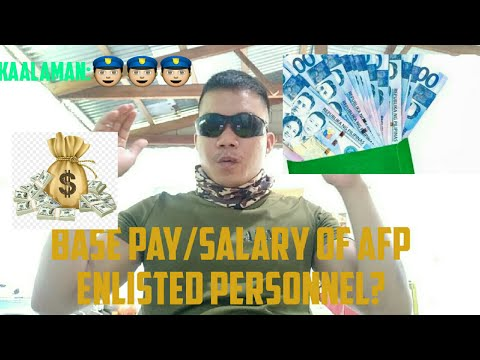ALAMIN: BASE PAY/ SALARY OF AFP NON COMMISSIONED OFFICER | J.R.BAT VLOGS