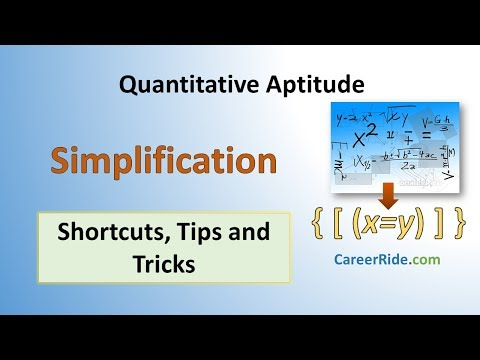 Simplification - Shortcuts & Tricks For Placement Tests, Job Interviews & Exams