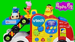 Vtech Go Go Wheels Car Carrier Peppa Pig And Cookie Monster Educational Toys Dctc Videos
