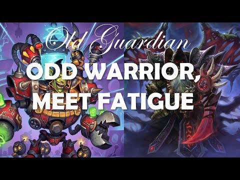 Can you fatigue an Odd Warrior? (Hearthstone Rastakhan Even Warlock game)