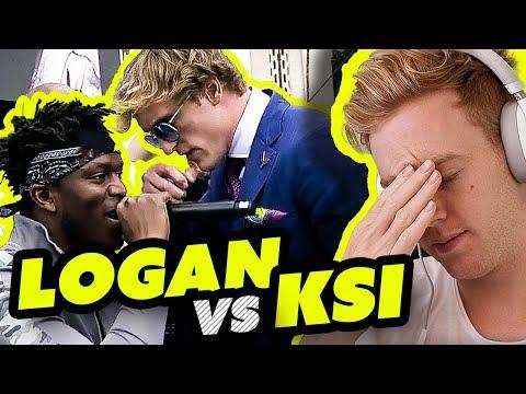 KSI VS LOGAN PAUL PRESS CONFERENCE *REACTION*