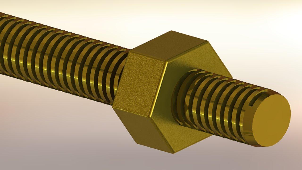 SolidWorks A Tutorial 119 Bolt  Nut screwthread mating