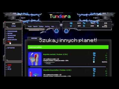 Nowa gra strategiczna Tundera! Rozbudowywuj, Handluj, Atakuj, Chatuj! www.Tundera.cba.pl