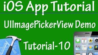 Free iPhone iPad Application Development Tutorial 10 - UIImagePickerController Demo in iOS App