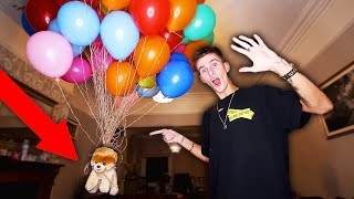 FLYING MY DOG WITH GIANT HELIUM BALLOONS! (IT ACTUALLY WORKED)