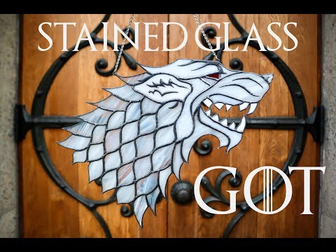 DIY Game of Thrones Direwolf Stained Glass (PART THREE)